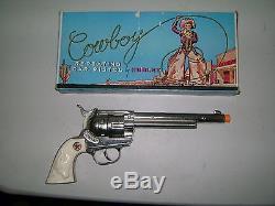 CAP GUN 50s HUBLEY COWBOY CAP PISTOL EX. WithBOX NICE