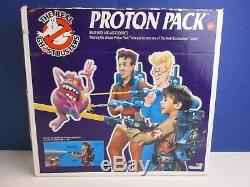 COMPLETE vintage GHOSTBUSTERS PROTON PACK GUN TOY original KENNER PKE METER 42e