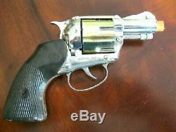 Complete Mattel Shootin' Shell Snub-Nose. 38 Cap Gun Detective Set Excellent