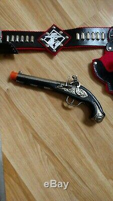 Custom Made Zorro Holster, Gun, and Sword Set. New but appears 1950's vintage