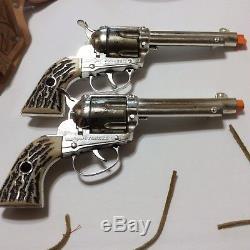 Fanner Shootin Shell Cap Guns With Double Fanner Holster
