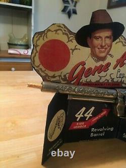 Gene Autry Leslie Henry Cap Gun And Counter Display