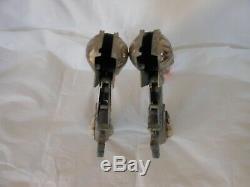 George Schmidt Hopalong Cassidy Toy Double Cap Gun & Holster Set 1950's Niceused