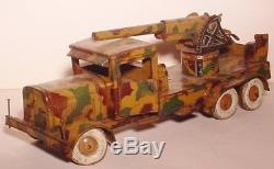 German Tin Toy/item176/11lx3.5wx5.5h/c1937/tipp&co/aircraft Gun Truck Pre-war