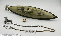 German wind up clockwork toy submarine boat gun Fleischmann or Marklin C. 1920's