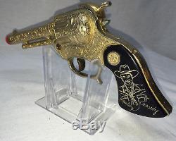 Gold Plated HOPALONG CASSIDY Gun WYANDOTTE TOYS The RAREST Gold Cap Gun