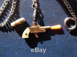Gold Plated Mother Of Pearl Grips Berloque Gun Pistol 2mm Pinfire Gun Xythos