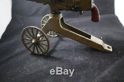 Grey Iron Casting Company Anti Aircraft Rapid Fire Machine Cap Gun Cast Iron Toy