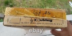 HUBLEY VINTAGE 1950'S COLT 45 CAP GUN w ORIGINAL BOX & BULLETS