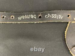 Hopalong Cassidy HOPPY Toy Cap Gun & Leather Studded Holster Set Vintage