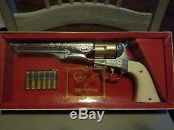 Hubley Cap Gun Colt 45 Complete N Mint In Box Exceptional