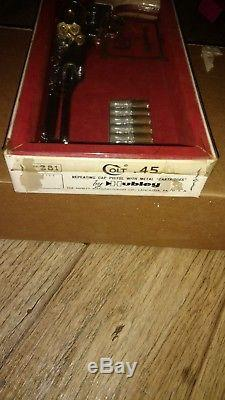 Hubley Colt 45 Cap Gun in Original box and carton with 6 Shells Super Nice Gun