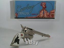 Hubley Cowboy Cap Gun with Box, Vintage 1950's