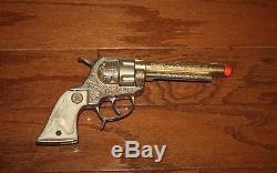 Hubley Gold Texan Cap Gun With The Original Box