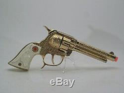 Hubley Texan Gold Die Cast Cap Gun, Vintage 1950
