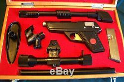 IDEAL Vintage 1960's MAN FROM U. N. C. L. E. CAP GUN in Custom Wood Case, WORKS NM
