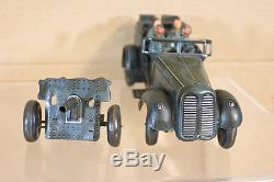 J N FURTH JNF CLOCKWORK GERMAN KUBELWAGEN ARMY STAFF CAR WH-29 & ANTI TANK GUN n