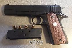 Japan MGC Metal Model Replica Colt Cap Gun Set W\ Sight And Targeting System