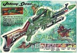 Johnny Seven OMA 7 Topper Toys TOYS Original Gun, Complete Set