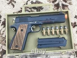 Johnny eagle lieutenant pistol m1911 cap gun- carry case, 6 bullets, pistol