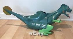 KING ZOR Dinosaur IDEAL TOYS With Original Dart Gun 8 Darts and 12 Balls 1960s