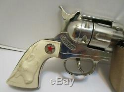 LARGE HUBLEY COWBOY CAP GUN WithREVOLVING CYLINDER