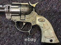 Leslie Henry Gene Autry 44 Toy Cap Gun Set WithDual Studded Leather Holster