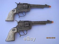 Leslie-henry Us Marshal 44 Two Gun And Holster Set
