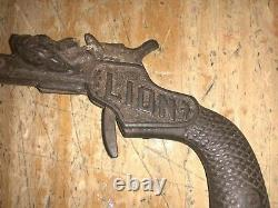 Lion Antique Cap Gun By Stevens 1887 Original Patina Working Order
