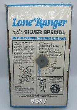Lone Ranger Mattel 1965 Vintage Smoking Silver Special Holster Set Gun Unused