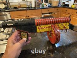 MARX G MAN GUN 1930s TIN LITHOGRAPHED IN WORKING CONDITION RARE