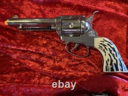 MATTEL SHOOTIN' SHELL FANNER BUCKLE GUN HOLSTER SET WithBOX, BULLETS, ETC