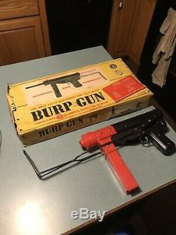 MATTEL SUB MACHINE GUN FOLDING STOCK 1960'S Working Condition W Original Box