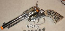 MATTEL Shootin' Shell Fanner Cap Gun & Frontier Holster Set in Box with Bullets