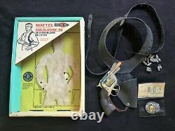 MATTEL Snub-Nose. 38 Cap gun, Holster, ID Card, Shootin Shell Bullets, & Box