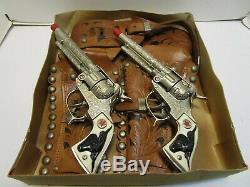 MCKINNON WESTERN HOLSTER SET WithHUBLEY TEXAN CAP GUNS WOW