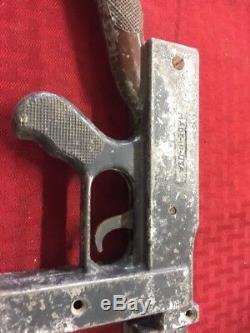 Marx Dick Tracy Tommy Gun 1947 Vintage original Extremely Rare! Original Sticker
