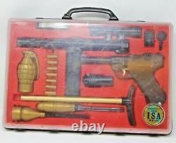 Marx ISA 07-11 International Secret Agent Spy Set In Case Spy Toy Gun Set Rare