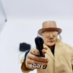 Marx Mike Hazard Double Agent Action Figure Accessories Coat Hat Gun Pipe 1965