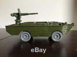 Marx Training Center 60mm Hard Plastic Amphibious Duck withArmor Plate Machine Gun
