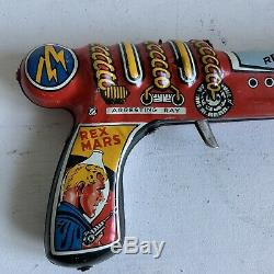 Marx Vintage Tin Toy Rex Mars Clicker Space Pistol Ray Gun From The 1950s