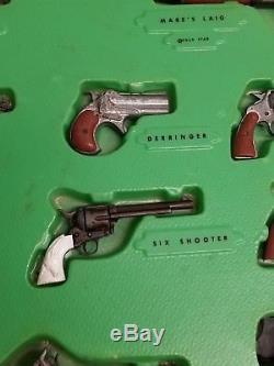 Marx miniature historic deluxe Cap gun 13qty collection die-cast metal ORIGINAL