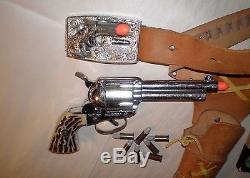 Mattel 1960's SHOOTIN' SHELL FANNER SS BUCKLE GUN HOLSTER w 7 Shells + Tips