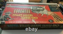 Mattel BULLET-Loading FANNER 50 Smoking REVOLVER CAP GUN in the BOX with Bullets
