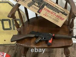Mattel Sharpshooter Tommy Burp Gun With Box