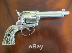Mattel Shootin' Shell Buffalo Hunter Single Holster Cap Gun & Knife Set Exc Cond