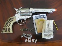 Mattel Shootin' Shell Colt. 45 45 Cap Gun (The Big One) withBullets & More