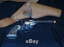 Mattel Shootin Shell Fanner 50 Cap Gun With Rare Mattel Swivel Shot Holster