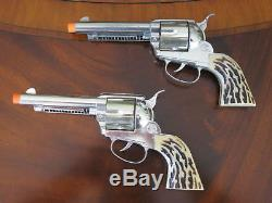 Mattel Shootin' Shell Frontier Double Holster Cap Gun Set withBox Excel Condition