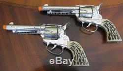 Mattel Shootin' Shell Frontier Double Holster & Cap Guns Set & Both Guns Work